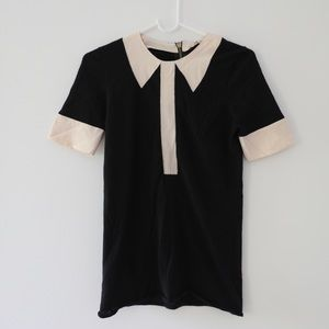 MARC BY MARC JACOBS Cashmere pink collar tee (XS)
